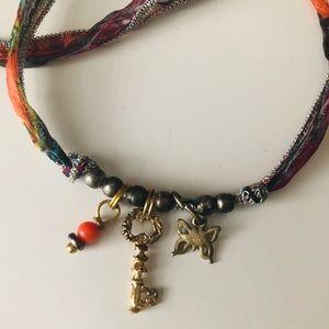 Johnny Was silk/ charm necklace/bracelet